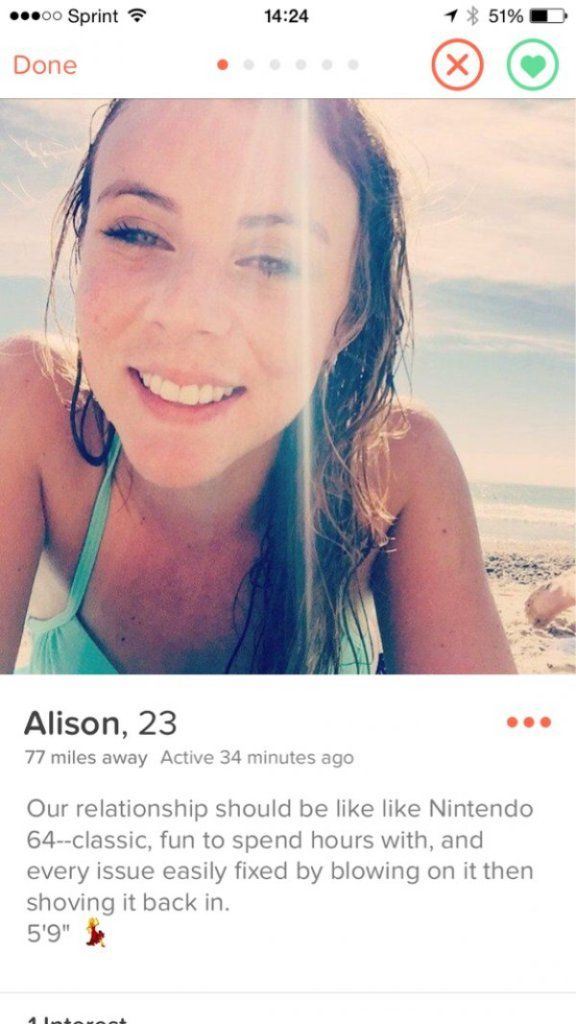 Image result for tinder profile ALISON,23
