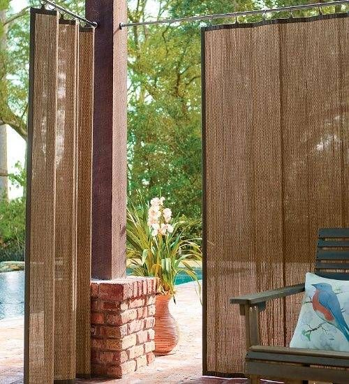 Outdoor Bamboo Curtains The Interior Design Inspiration Board Outdoor Bamboo Curtains Backyard Privacy Patio Shade