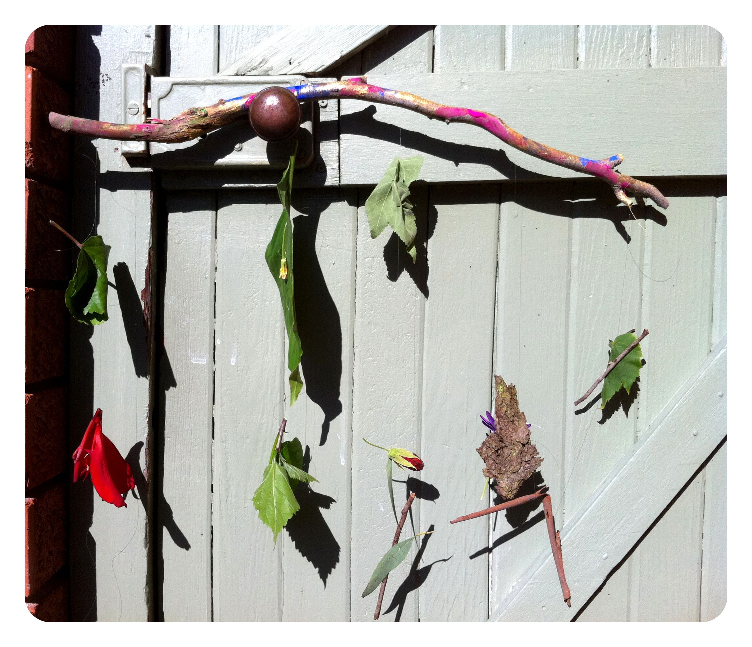 Nature walk art one perfect day i like the idea of displaying it in the backyard on the fence