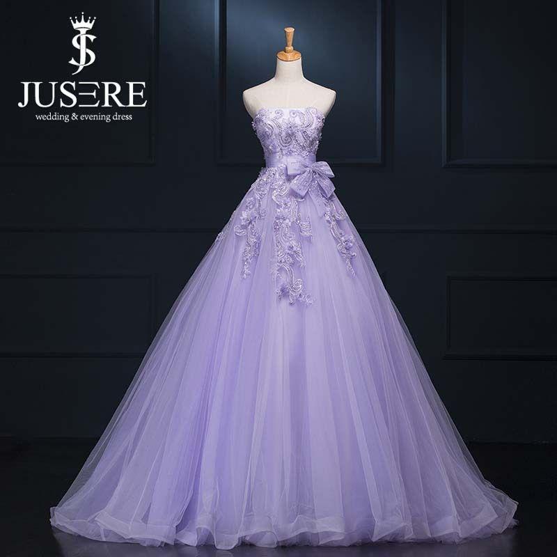 Cheap Lavanda tul por encargo A largo brillante elegante vestidos ...