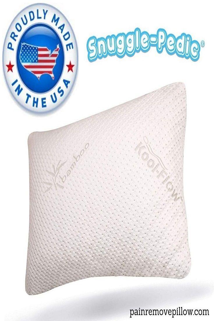 Good quality shredded memory foam pillow solves this