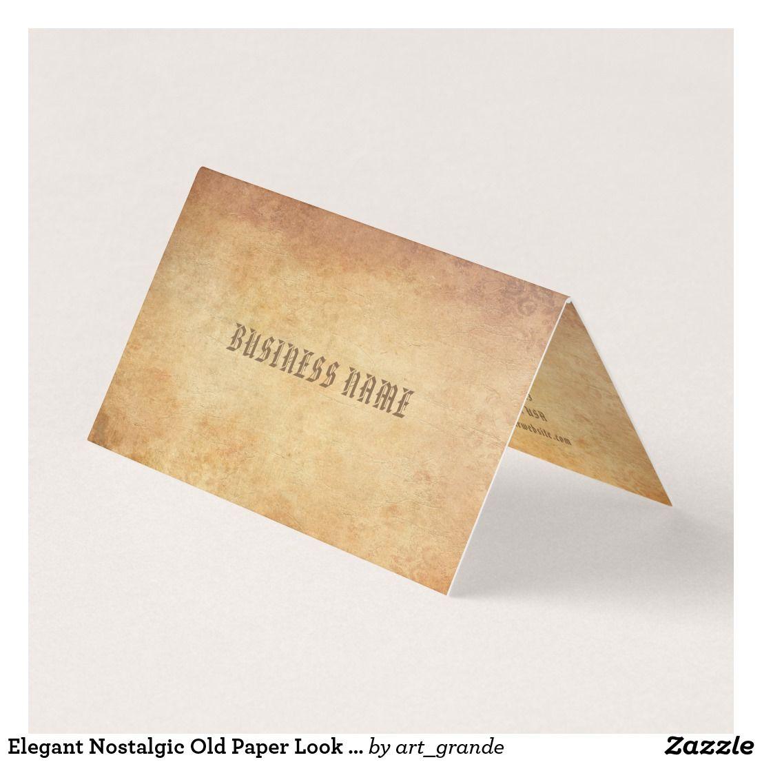 Elegant Nostalgic Old Paper Look Professional Cool Business