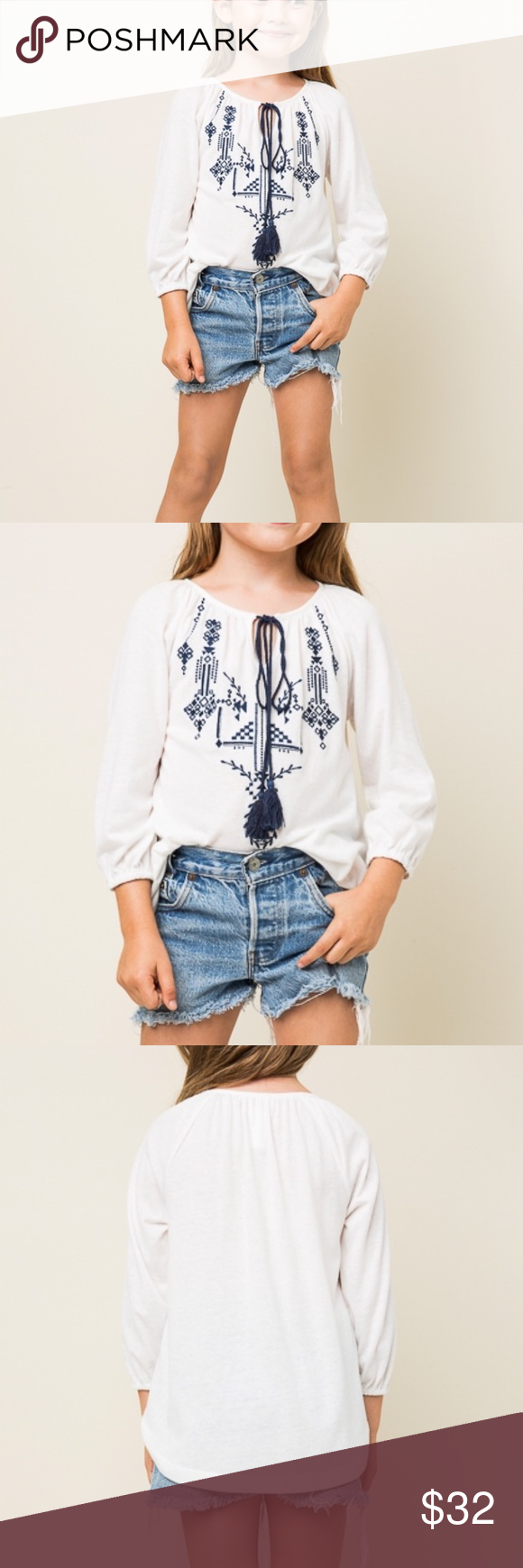 🎉Host Pick 💙 Embroidered Cotton Tunic 💙 How cute is this embroidered cotton tunic? ✌🏽️ Made with 100% Cotton. 🌵 No trades. ❌ Not Free People. 💛 BUNDLE & SAVE Free People Shirts & Tops Blouses