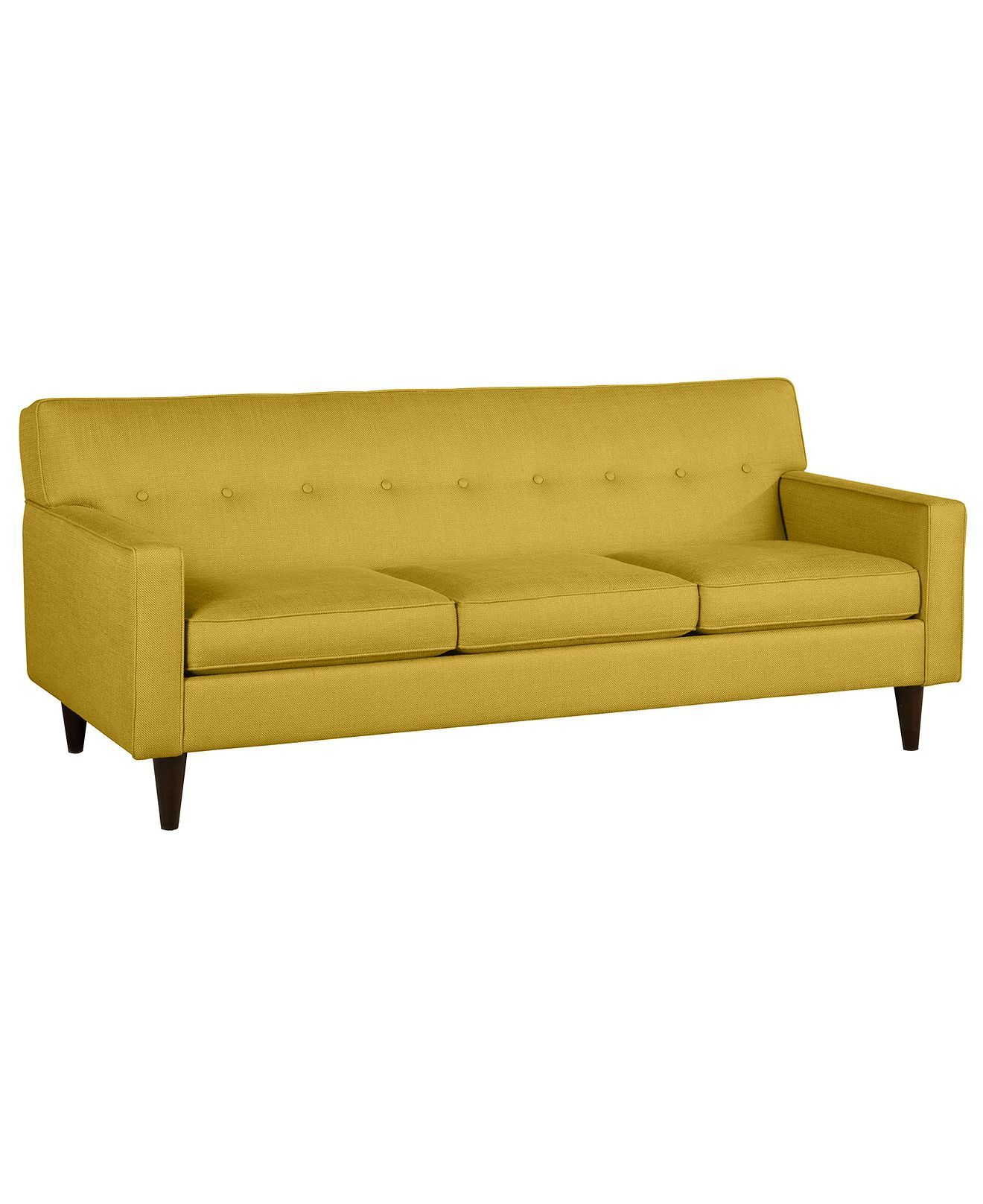 To go mustard or not to go mustard $699 sale Clare Fabric Sofa