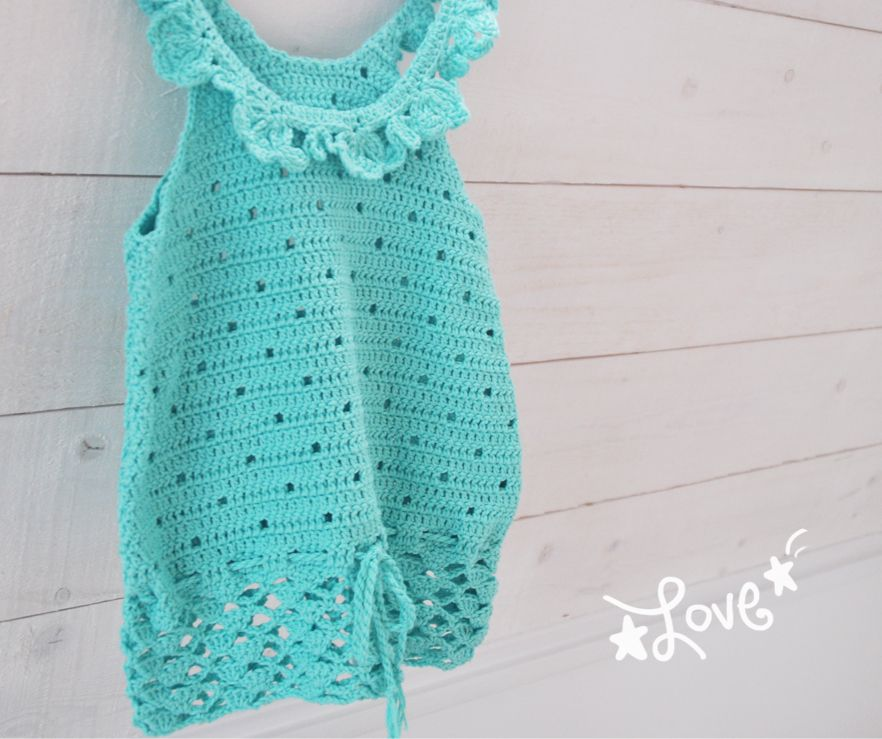 free crochet pattern girls top summer coton 3 | Crochet | Pinterest ...