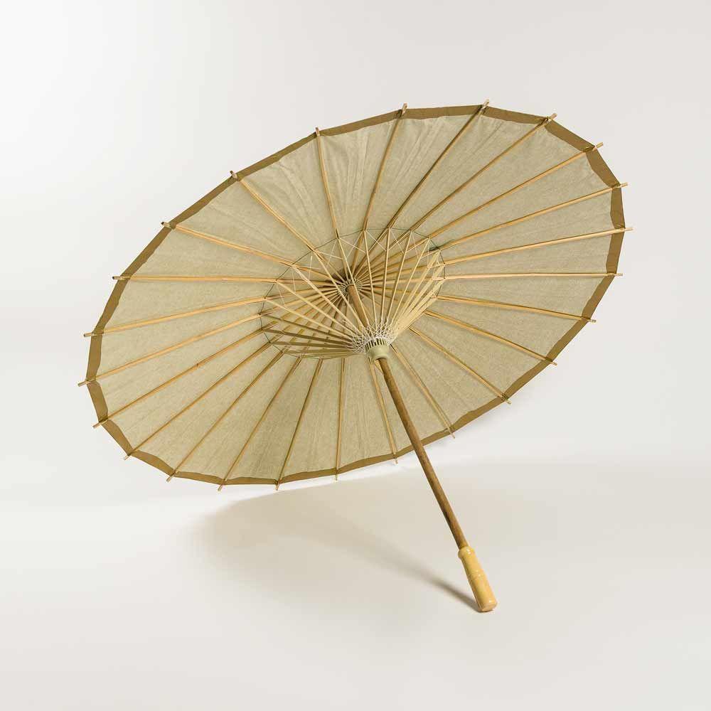 32 Gold Paper Parasol Umbrella Weddings Gold Paper