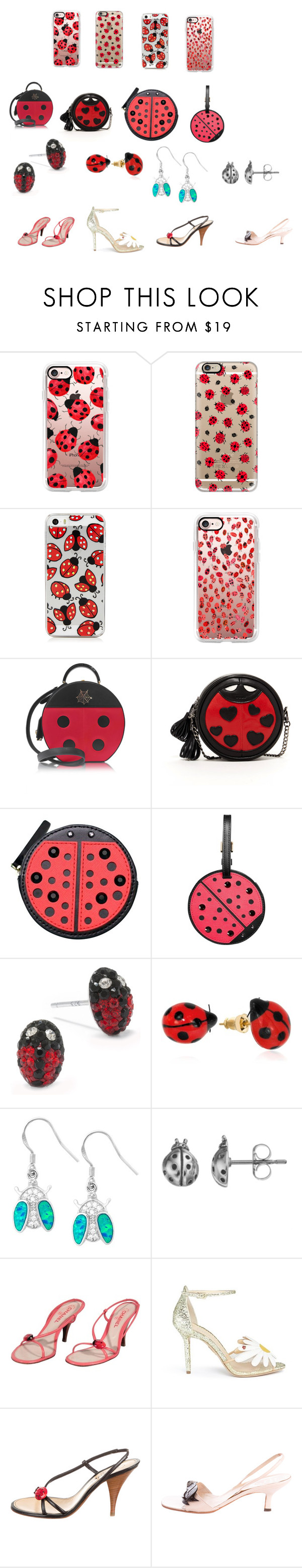 """Super-Ladybug-Fashion-Women"" by ibur-7snowflakes ❤ liked on Polyvore featuring Casetify, Charlotte Olympia, SUSU, Kate Spade, Silver Treasures, Nach, La Preciosa, Journee Collection, Chanel and René Caovilla"
