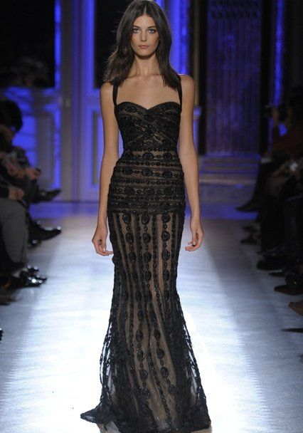 2014 HAUTE COUTURE GOWNS   ... and seductive black lace prom dress ...