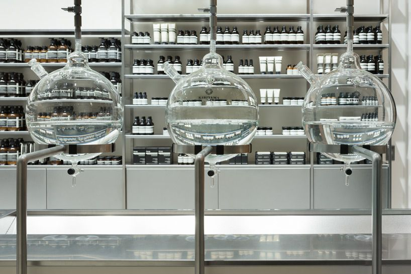 Torafu Architects Sets Tokyo S Aesop Store Within A Laboratory Setting Aesop Store Aesop Architect