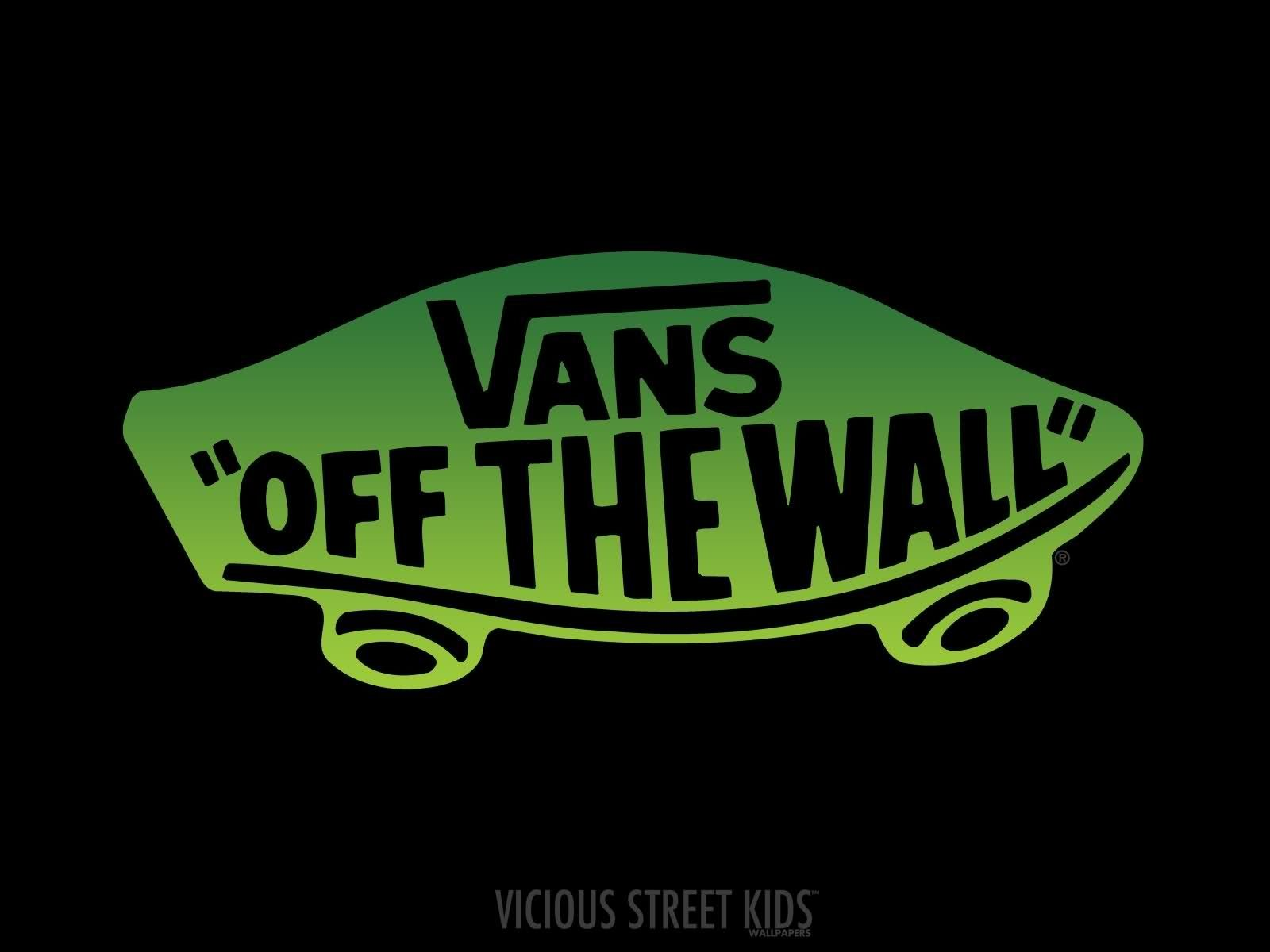 Green Logo Vans Off The Wall Logo Hd Wallpaper 1600x1200px Desktop