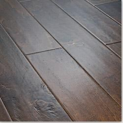 Jasper Handscraped Birch in Texas Brown, engineered hardwood, $2.19/sq ft--water and heat resistant, so OK for kitchens, laundry rooms and bathrooms