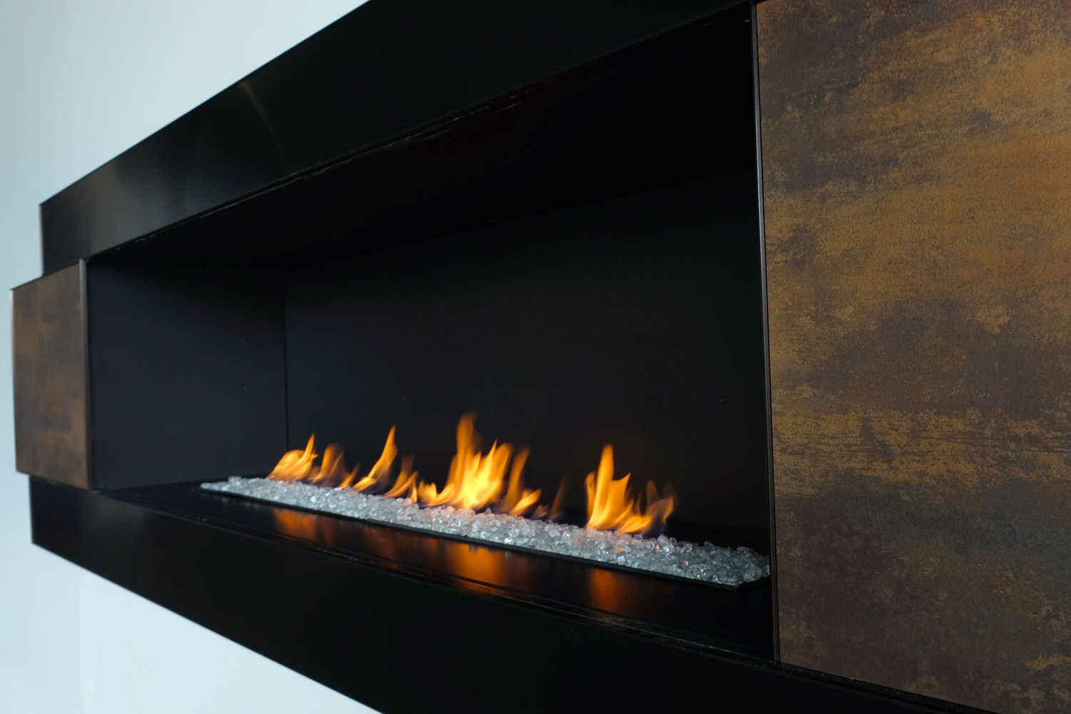 H Series By European Home Designer Surround Close Up European House Gas Fireplace Modern Fireplace