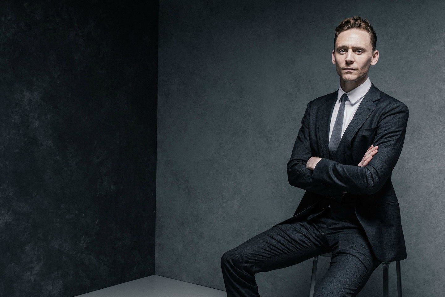 Hiddles in a suit..