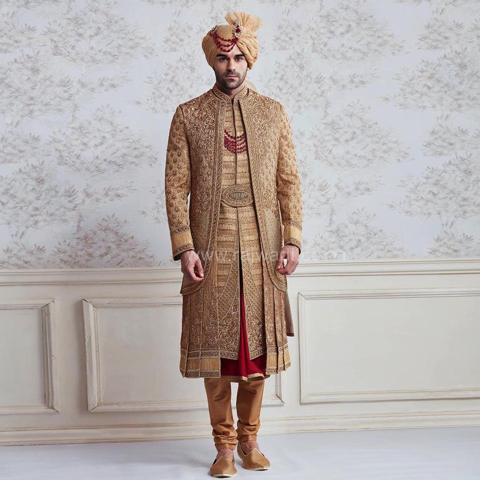 2dbdcf960fb Brocade Wedding Anarkali Style Sherwani  rajwadi  designer  exclusive   trendy  sherwani  wedding  collection  embroidered