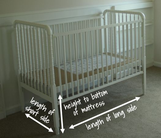 How to make a crib skirt because I can't find anything I