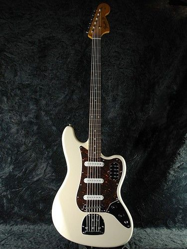 details about squier fender vintage modified vi 6 string electric bass guitar olympic white. Black Bedroom Furniture Sets. Home Design Ideas