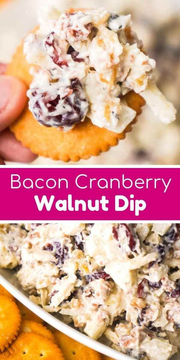 Bacon Cranberry Walnut Dip - This is Not Diet Food #dipsandappetizers