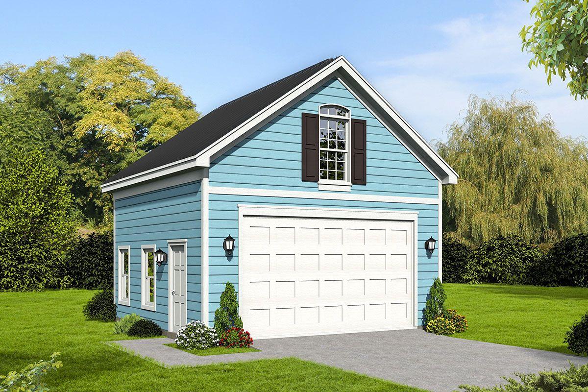 Plan 68612vr Detached 2 Car Garage With Storage Loft Garage Plans With Loft Loft Plan Garage Loft