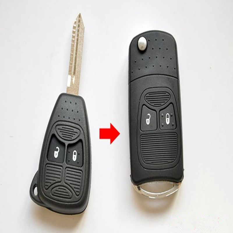 New Modified Flip Folding Car Key Shell For Chrysler Jeep Compass