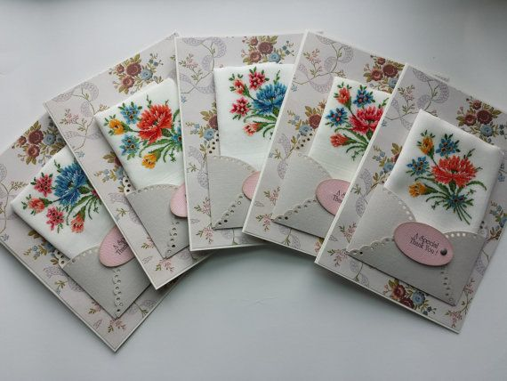 Vintage Wedding Favor Handkerchief Lot Baby By Bolstersmillscards