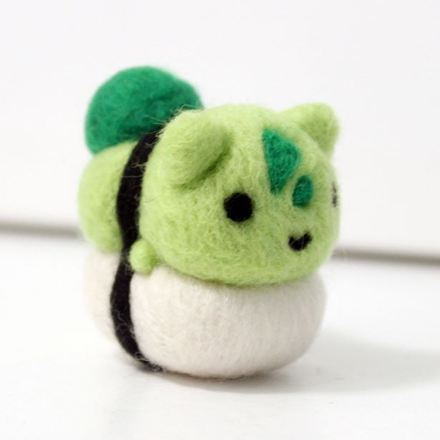 Needle-felted Sushi Pokemon made by CafeDeYume -