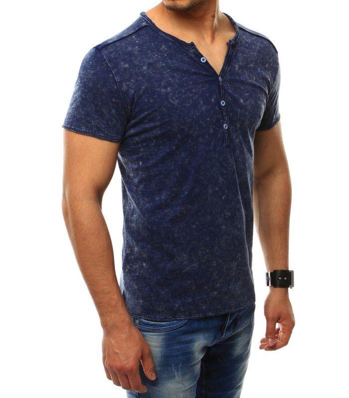 ad8f197f929e Pánske batikované tričko tmavomodré