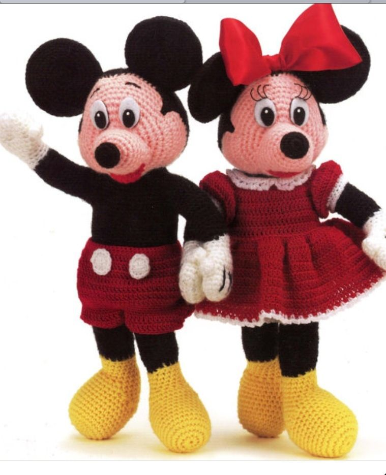 Crochet Mickey And Minnie Mouse Pdf Patterns โครเชต Pinterest