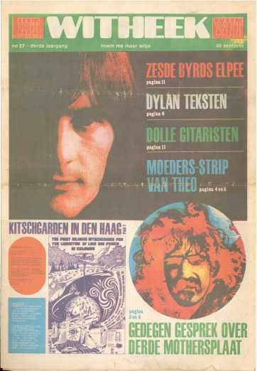 hitweek no.37   (1968/05/31, magazine, the netherlands)  This May 1968 edition of Hitweek included a 1-page Zappa article & a 2-page comic [woiiftm].