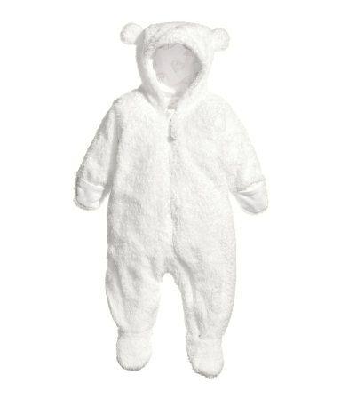 modischer Stil Online-Shop bezahlbarer Preis Teddyplüsch-Overall weiß 19,99 | H&M AT | • Baby • | Baby ...
