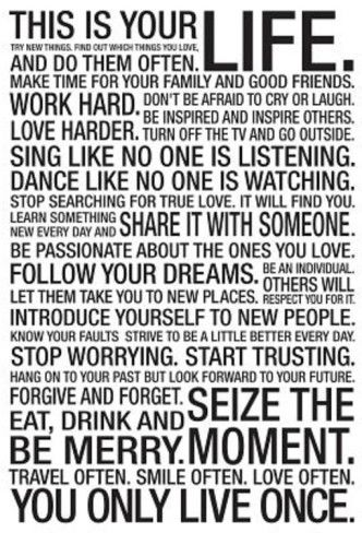 This Is Your Life Quotes Sayings Pinterest Motivational Extraordinary This Is Your Life Quote Poster