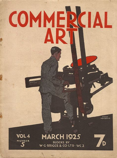 Cover To Commercial Art Magazine 1925 Artwork By Frank Newbould