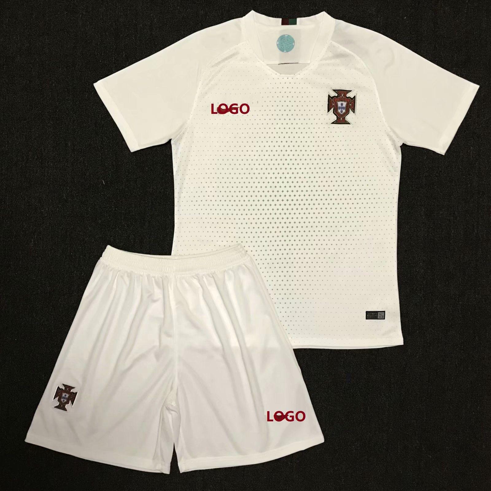 fb93fb758 2018 Russia World Cup Adult Portugal Away White Soccer Kits Man Soccer  Uniform Football Jersey Customization Name Number Football Jersey uniforme  de fútbol