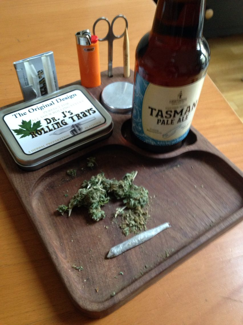 Handmade Wood Marijuana Weed Joint Rolling Tray By Dr J