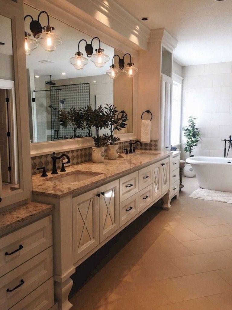 32 Stunning Farmhouse Master Bathroom Ideas Rustic Master Bathroom Farmhouse Master Bathroom Modern Farmhouse Bathroom