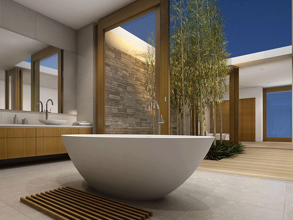 Marblo Mojo oval bath unlike ceramic baths, the Marblo material is ...