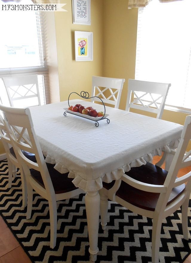 Easy Diy Tailored Tablecloth From A Painter S Drop Cloth At