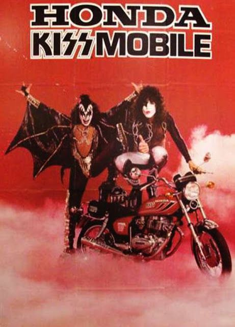 Famous People On Bikes Kiss Merchandise Honda Bobber