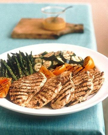 Grilled Orange Sesame Chicken and Vegetables Recipe