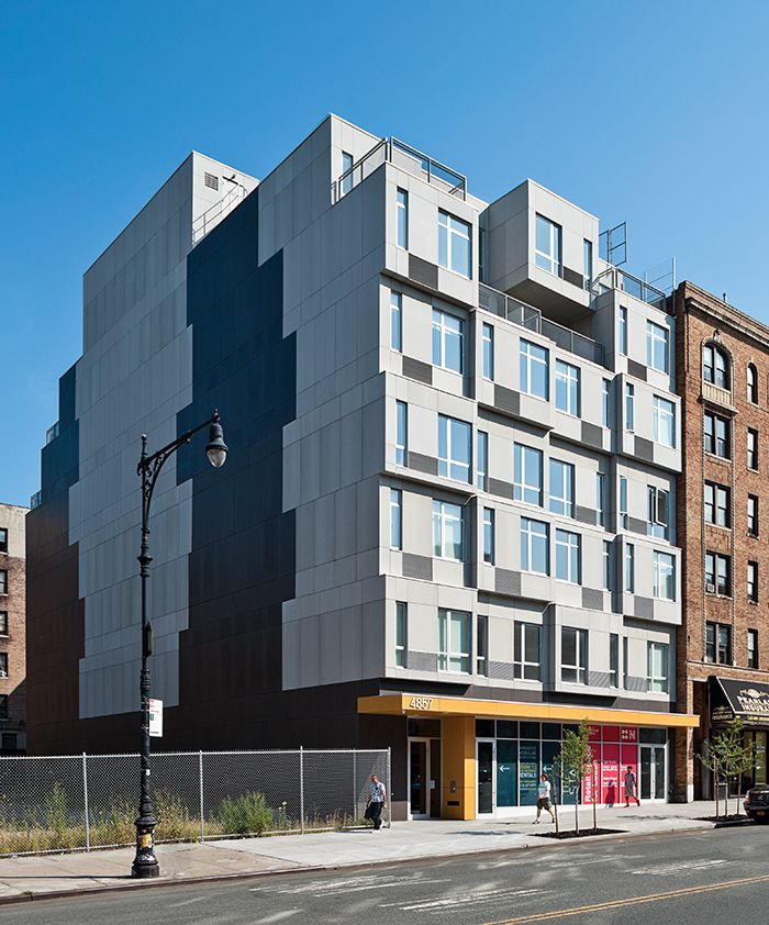 Winning The Race To Build Tallest Prefab Building In New York City Gluck Assembles 28 Affordable Housing Units Less Than A Month