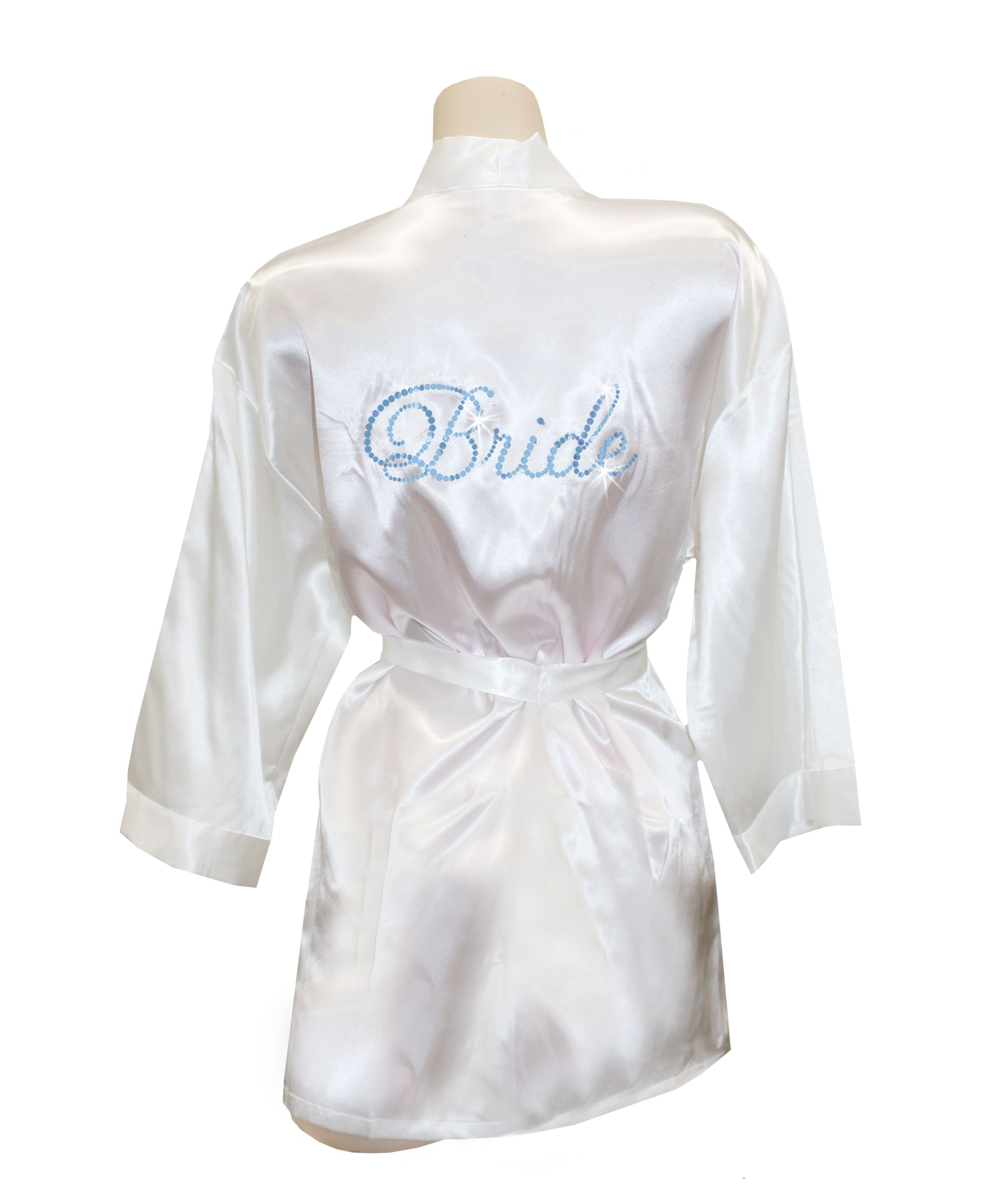 Personalized Embroidered Monogram Satin Robe - Wedding Gifts & Decorations