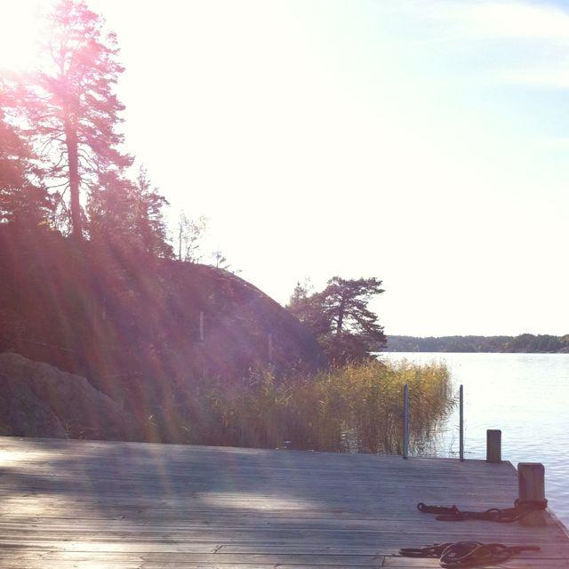 'Brygga kvällsol' (in the evening sun) #brygga #sweden