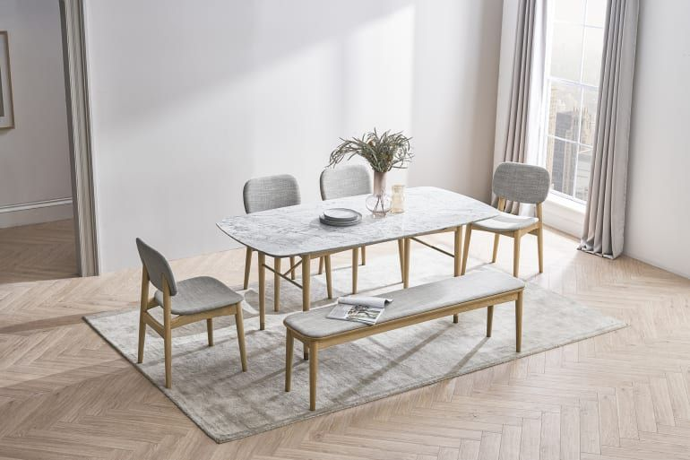 Chelsea Marble Dining Table With 4 Chairs Castlery Dining Table Marble Dining Room Table Marble Dining Table With Bench