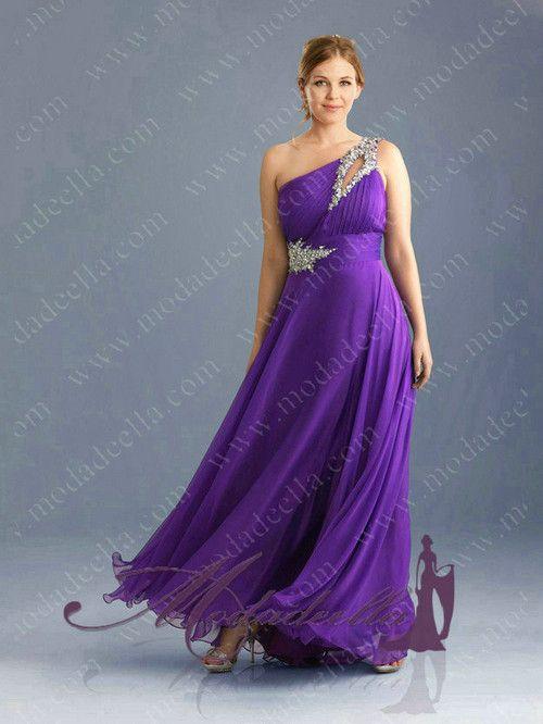 Vestidos de noche tallas extras 2012