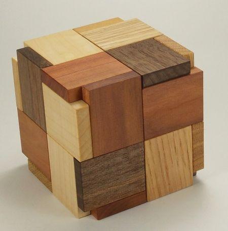Tri Cycle 6 Piece Puzzle Burr Puzzle Wooden Puzzles Cube Puzzle