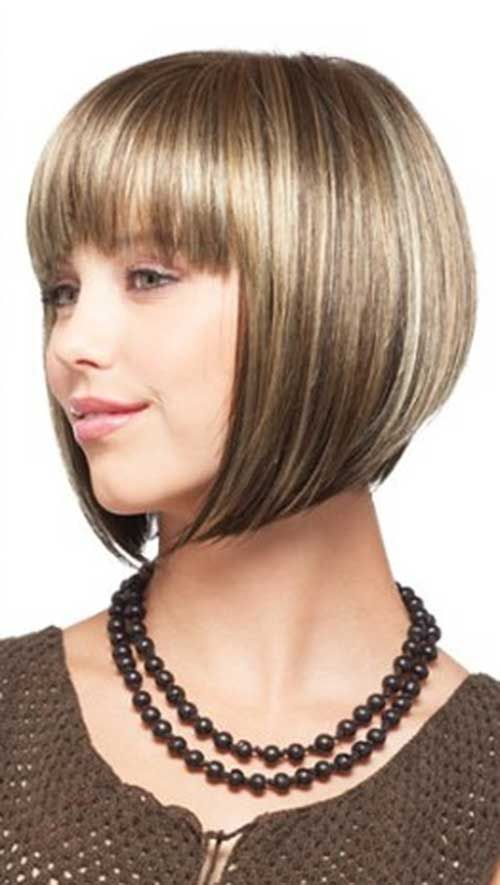 20 Best Chin Length Bob With Bangs The Best Short Hairstyles For Women 2015 Chin Length Hair Short Hair Styles Bob Hairstyles For Fine Hair