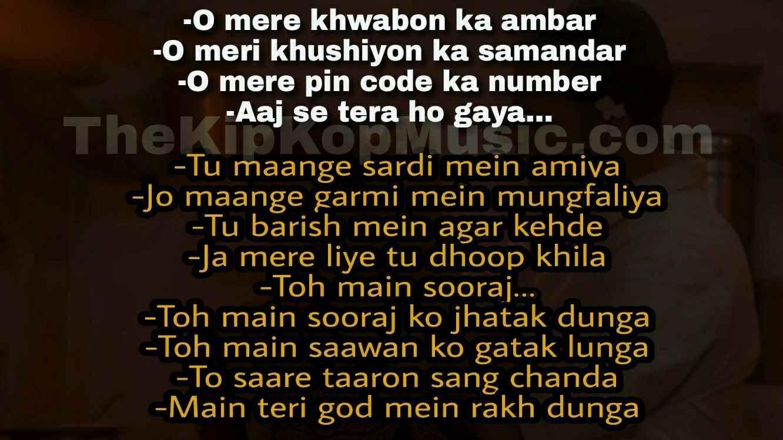 Pin On Aaj Se Teri Padman Song Lyrics Quotes Arijit Singh