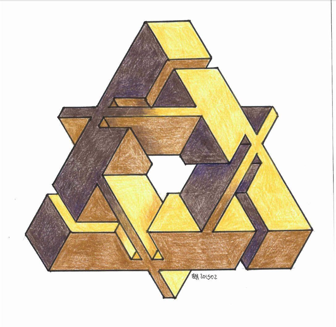 #impossible #isometric #penrosetriangle #Oscar_reutersward ...