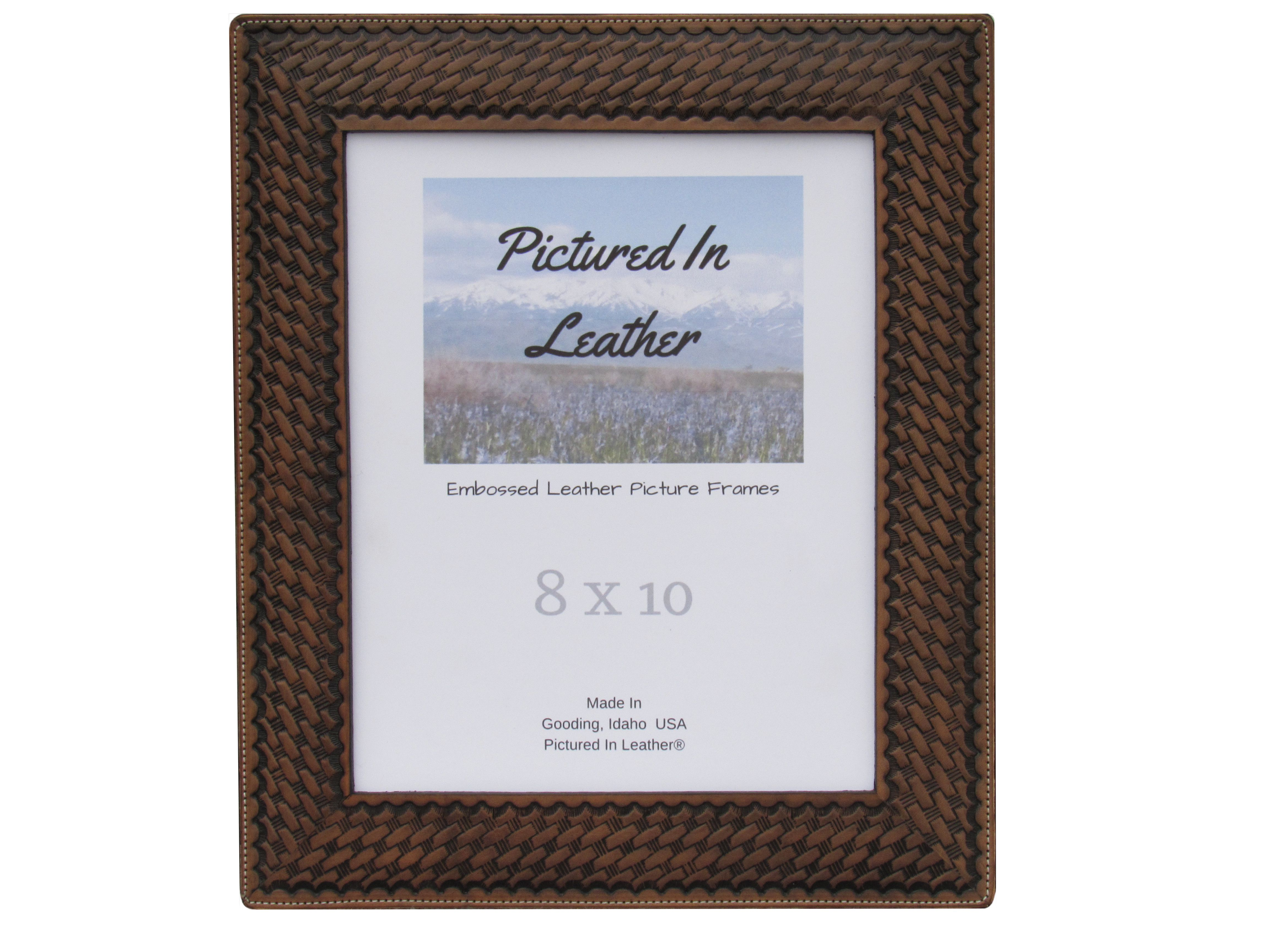 8x10 Leather photo frame, black western picture frames, family ...