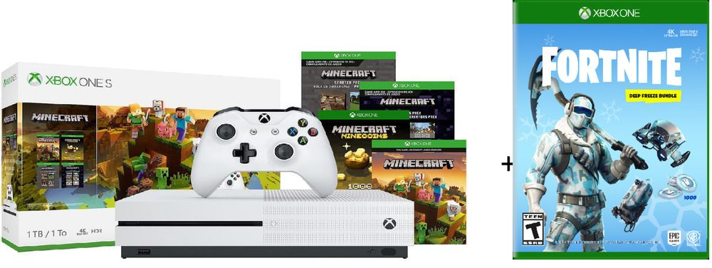 Xbox One S 1tb Minecraft Bundle Fortnite Deep Freeze Bundle No Tax 1 Day Ship Fortnite Fortnitebattleroyale Live Xbox One Xbox One S Xbox