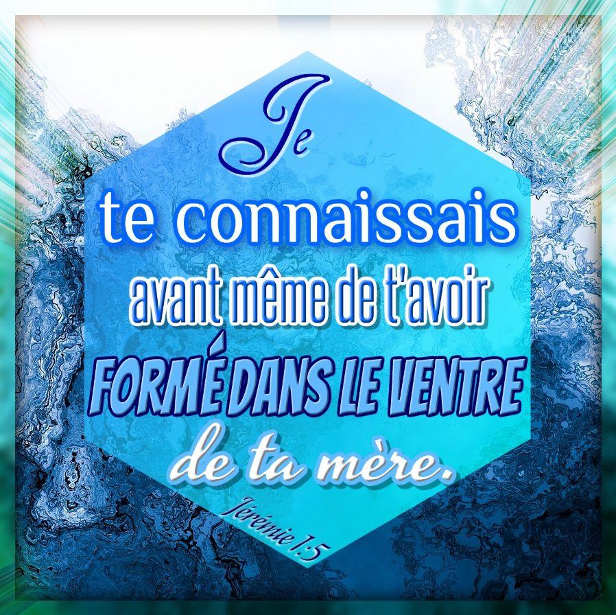 Jeremie 1v5 Bible En Francais Texte Biblique Psaumes